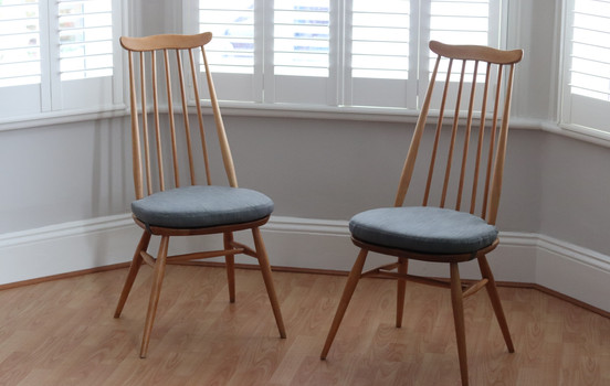 2x Ercol dining seat pads