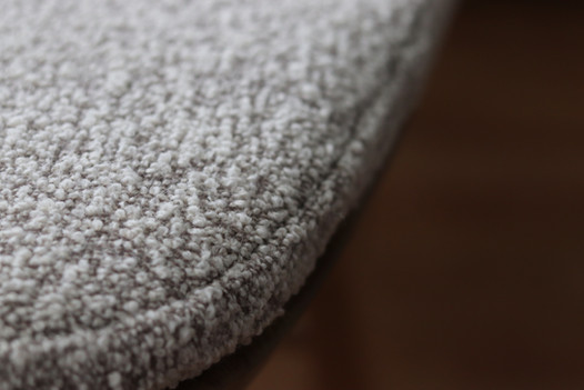 Close up of ercol dining seat pad