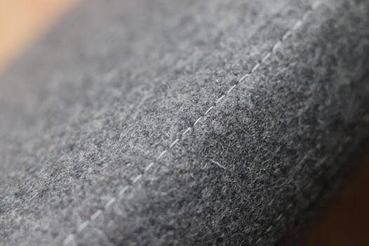 Bespoke window seat cushion in grey