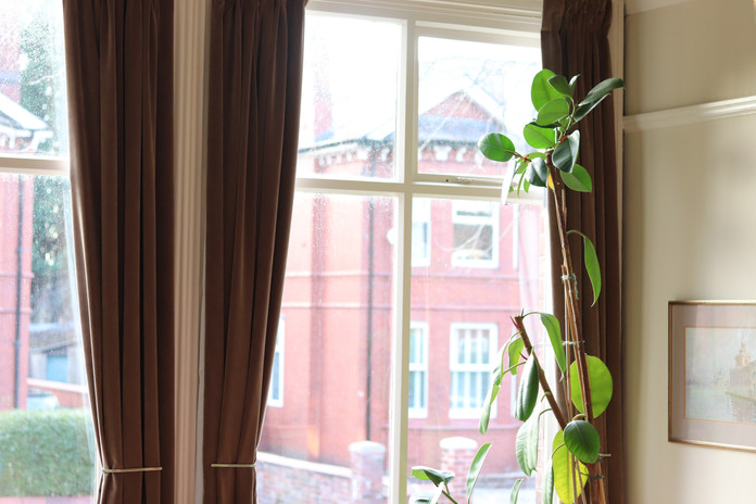 Huge 3m length curtains in 'Mouse' brown