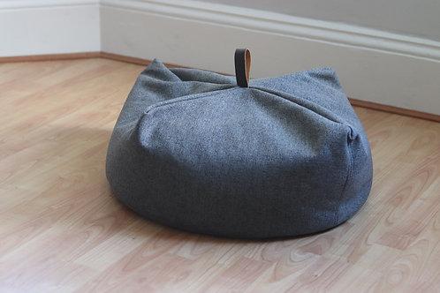 maus large grey beanbag