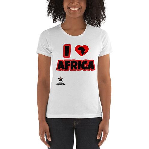"""""""I Love Africa"""" Women's t-shirt"""