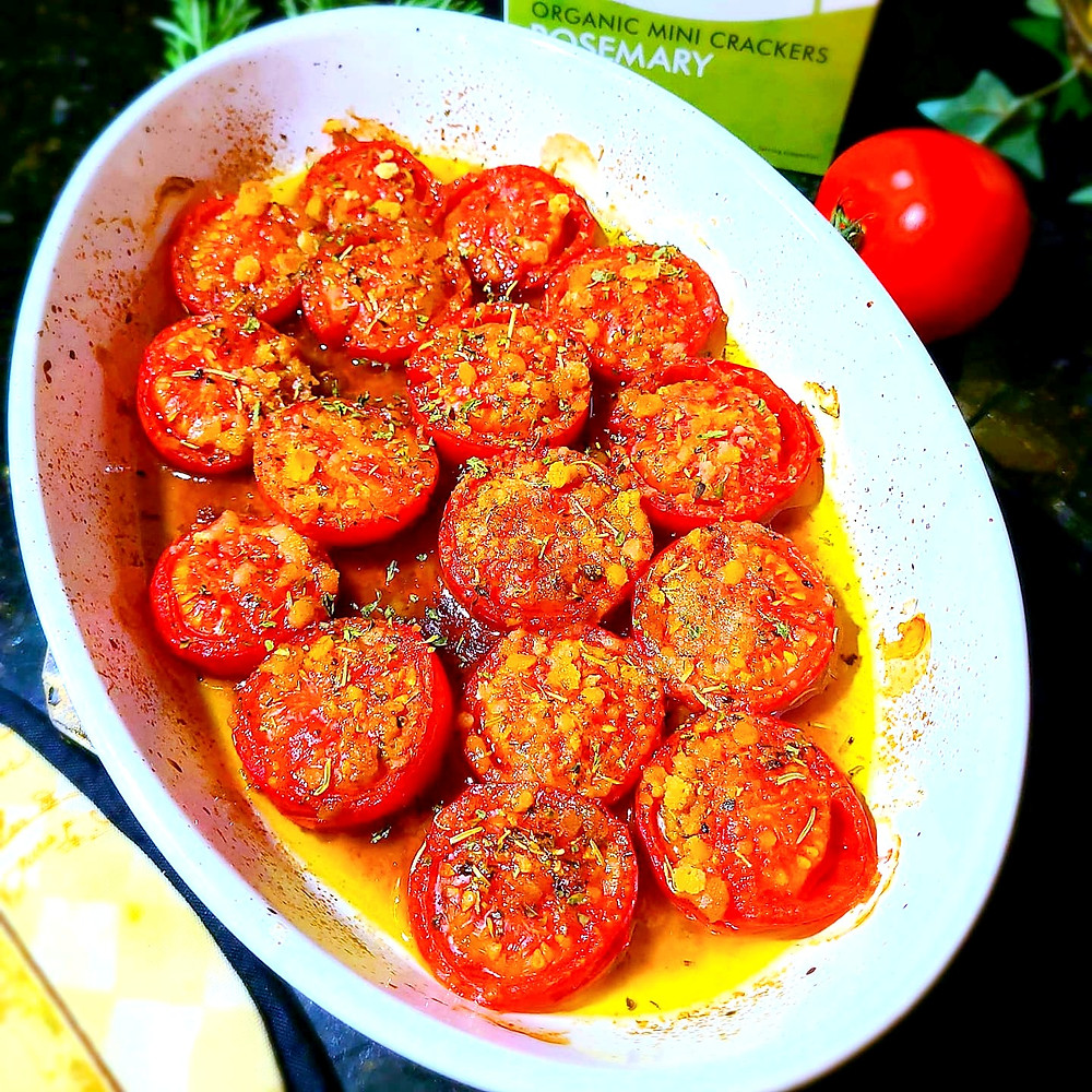 Easy Roasted Tomatoes (Gluten-free, soy-free, dairy-free)