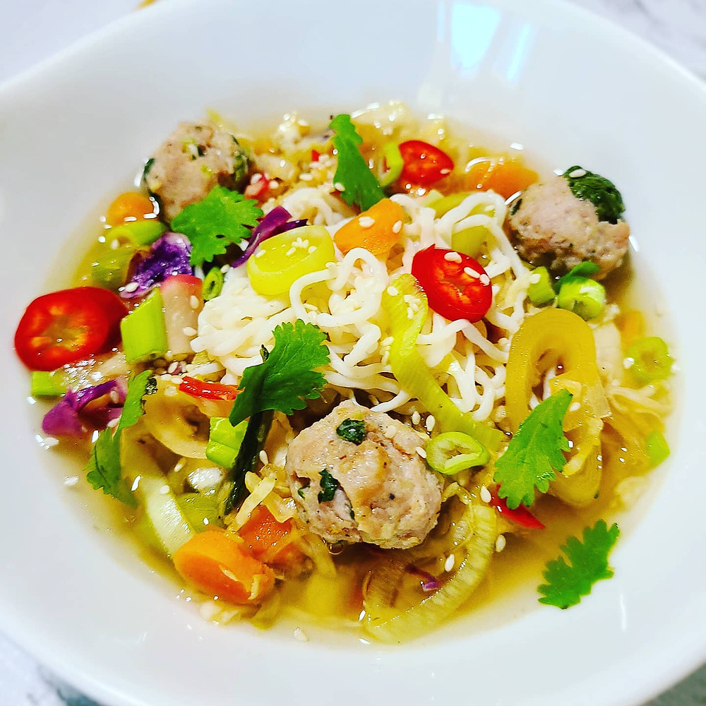Egg Roll in a SOUP Bowl (Gluten-free, no grains, dairy, soy)