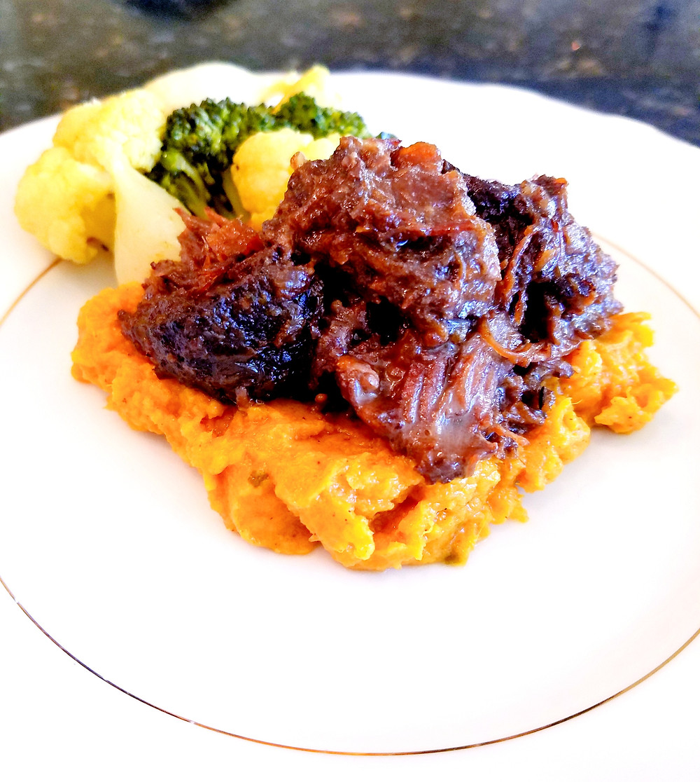 Savory Curried Mashed Sweet Potatoes (Gluten-Free, no soy/dairy/grains)