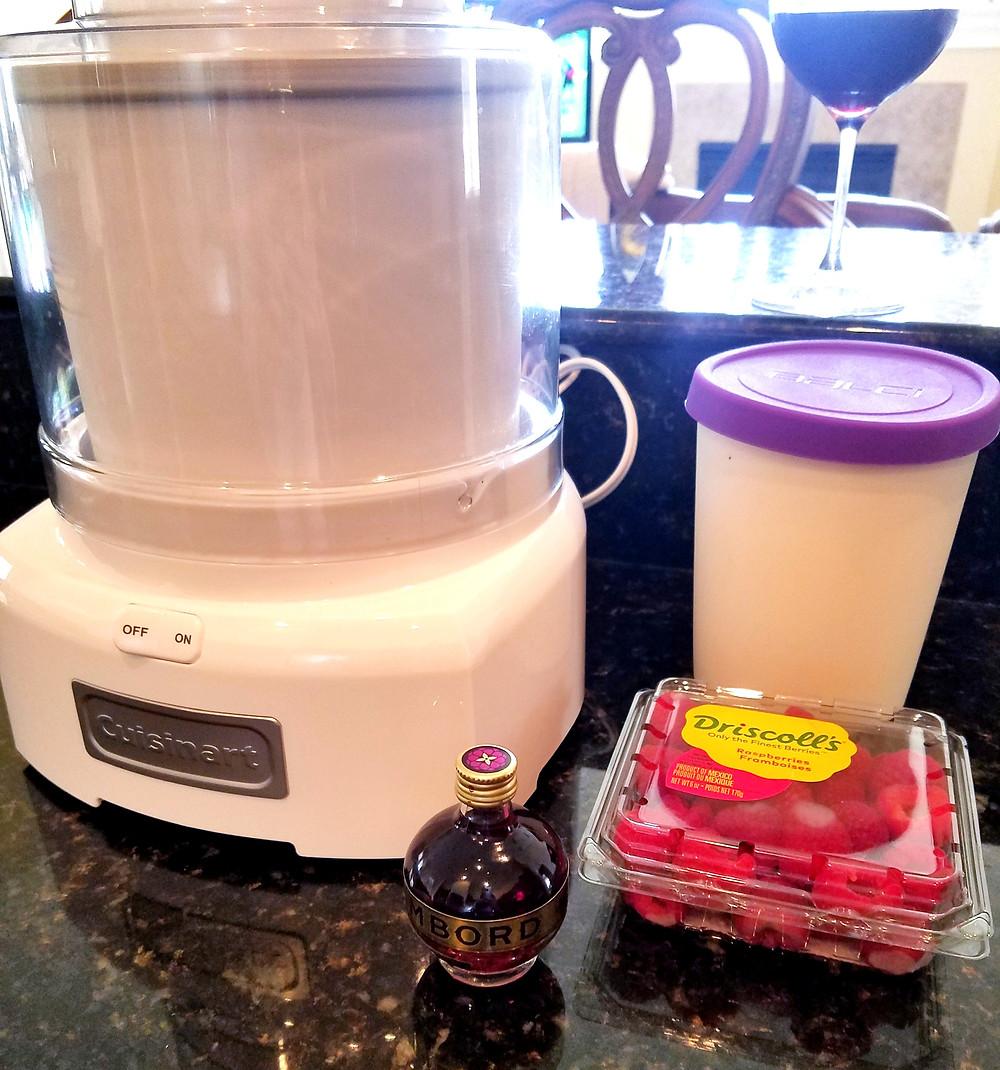Raspberry Chambord Coconut Milk Ice Cream (Gluten-free, dairy-free, soy-free, grain-free)