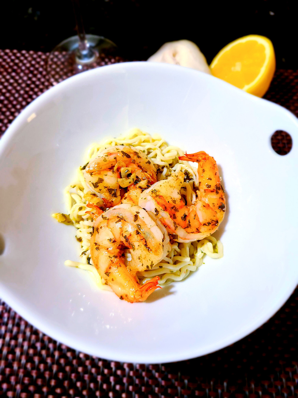 Quick Garlic-Buttery Shrimp Scampi (Gluten-free, dairy-free, soy-free)