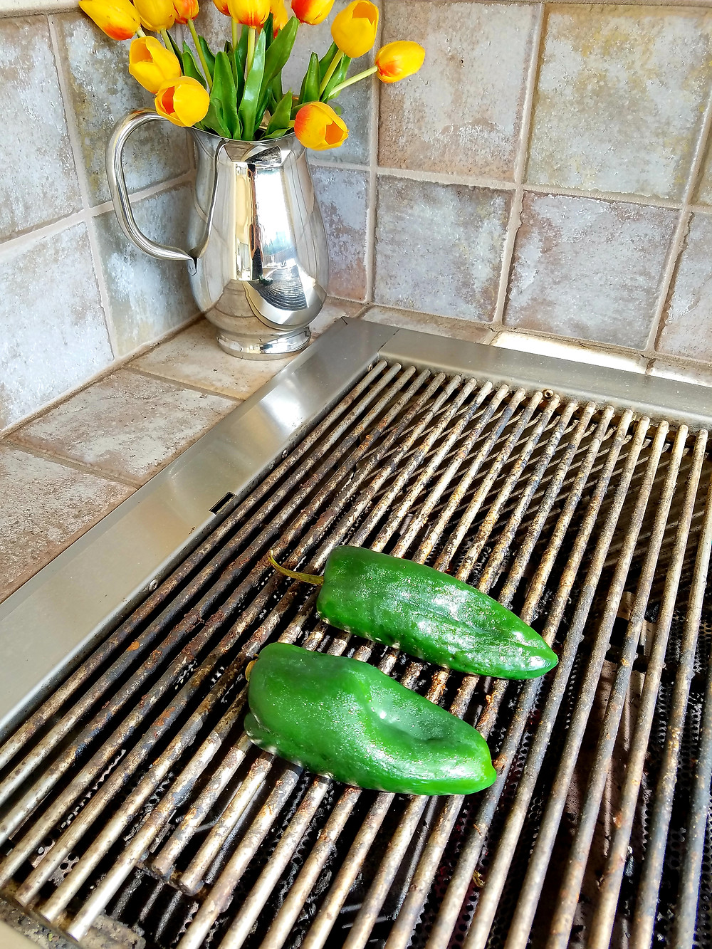 Shrimp-Stuffed Poblano Peppers (Gluten-free, dairy-free, soy-free)