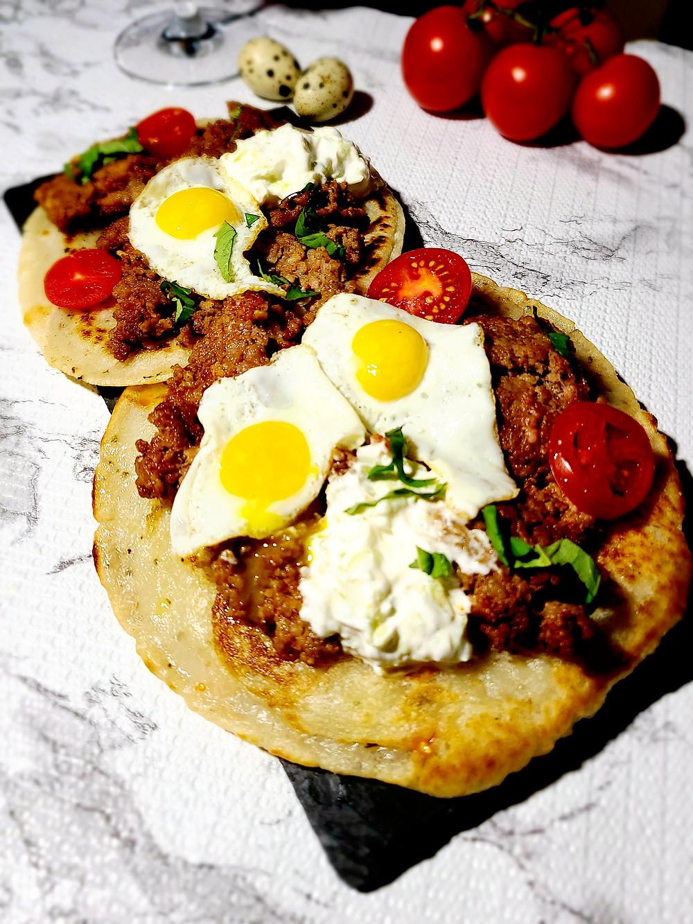 4-Ingredient Mock-Pita Pan-Bread (Gluten-free, Soy-free, Grain-free)