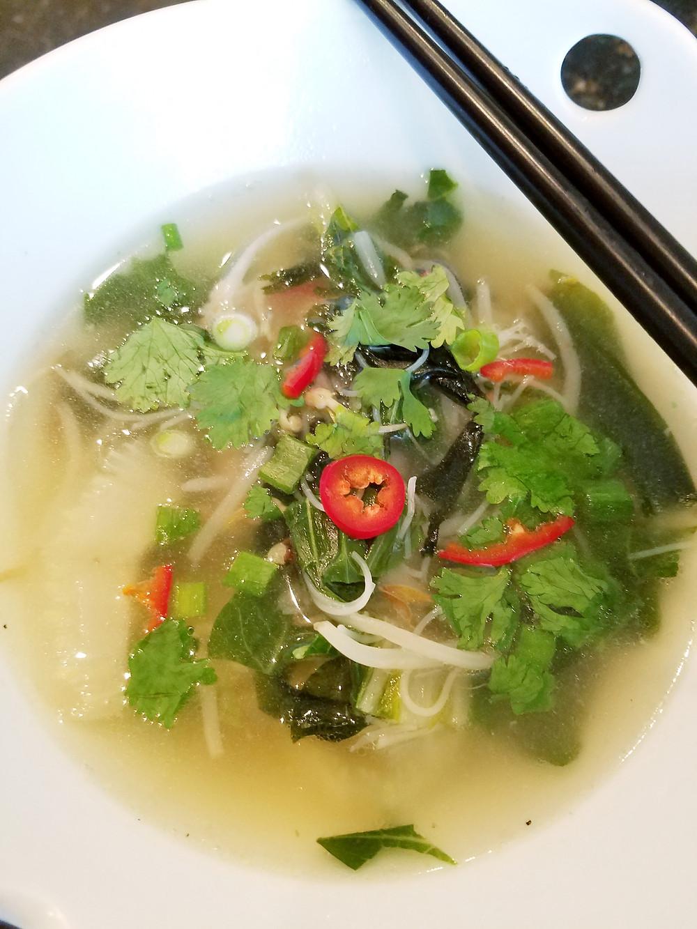 Asian Veggies in Bone-Broth