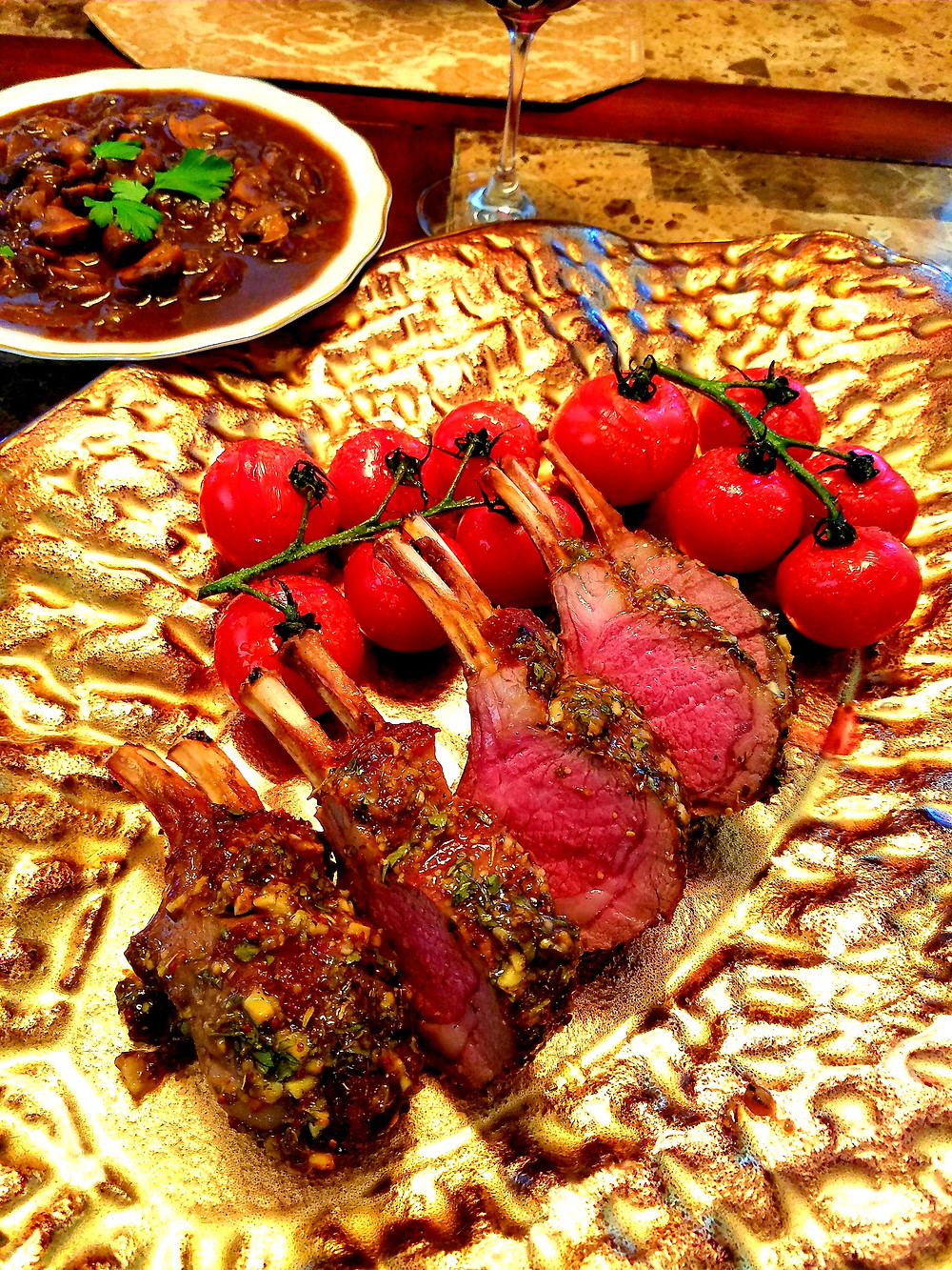 Rack of Lamb with Garlic & Herbs (Gluten-free, no soy/dairy/grains)