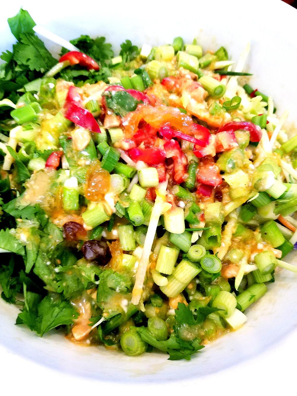 Spicy Broccoli Slaw (Gluten-Free, No soy or dairy)