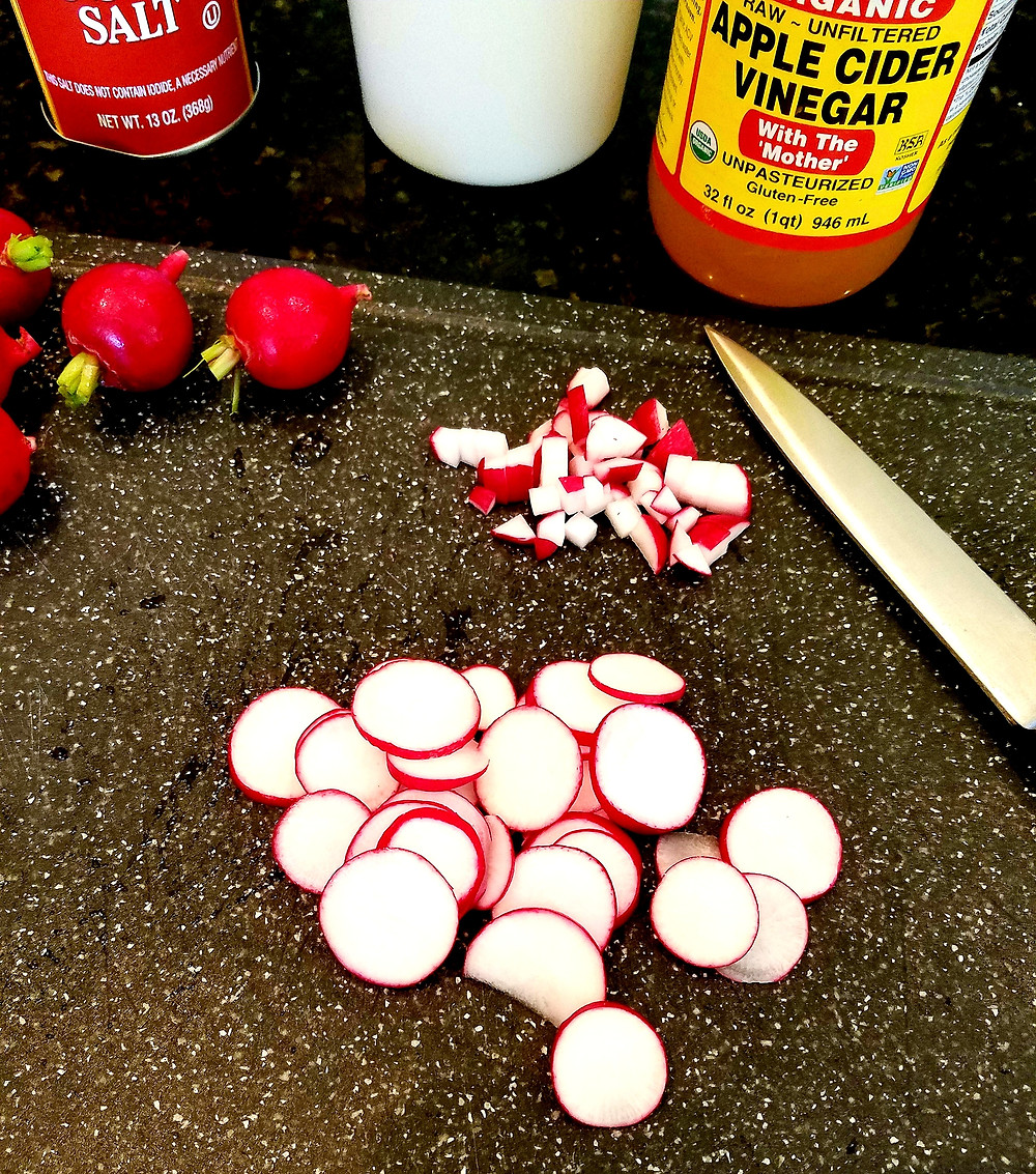 Quick Pickled Radishes (Gluten-free, soy-free, dairy-free)