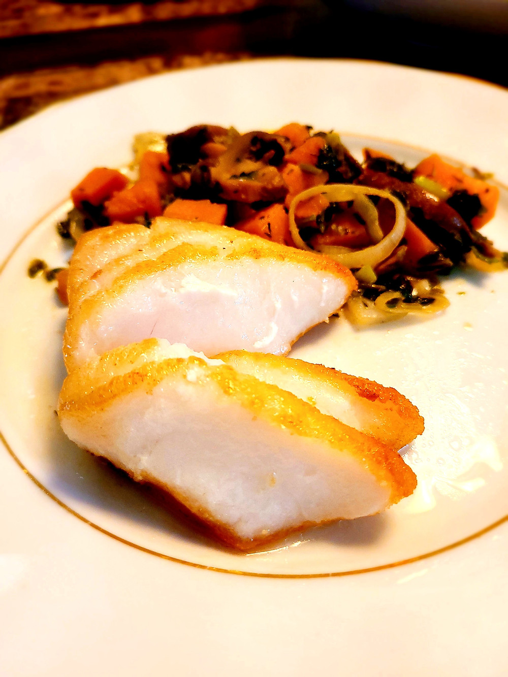Pan-Seared Chilean Sea Bass (no gluten, soy, dairy, grains)