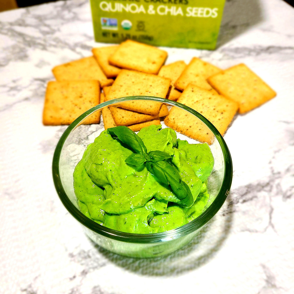 Creamy Basil & Avocado Pesto Dip (Gluten-free, soy-free, dairy-free, grain-free)