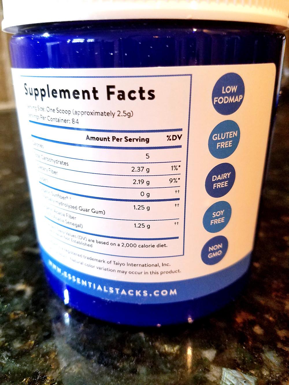Essential Stacks Gut L-Glutamine Powder – Gluten, Dairy & Soy Free, Vegan