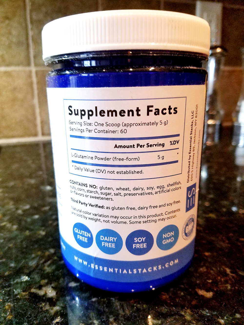 Essential Stacks Friendly Prebiotics Powder - Plant-Based and Gluten, Dairy & Soy Free