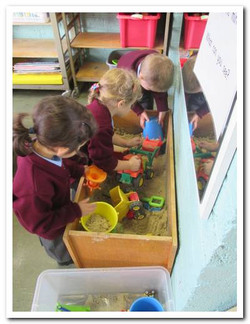 Junior Infants at free play time