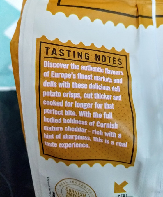 Tasting Notes For Crisps Sparks Fears of The Apocalypse