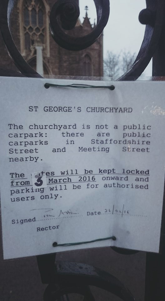 Suspension of Parking at St George's Churchyard