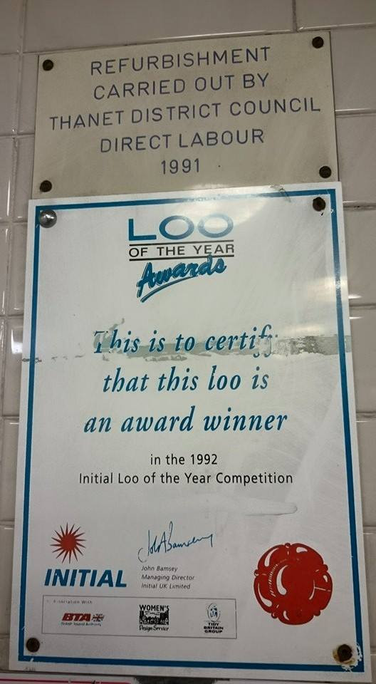 Celebrate Broadstairs Initial Loo of the Year 1992 Award Winner