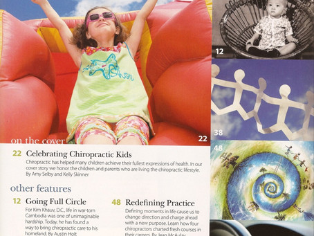 Metro Manila Chiropractor, Dr. Kim Khauv, Featured in Today's Chiropractic LifeStyle Magazine