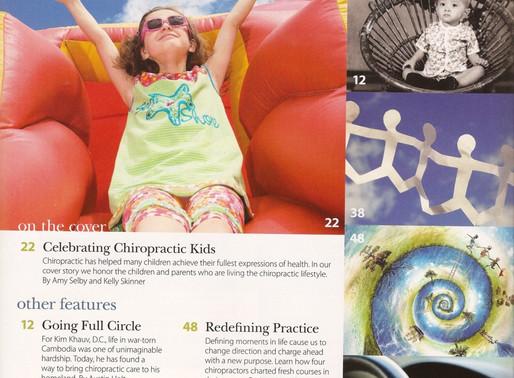 Metro Manila Chiropractor, Dr. Kim Khauv, Featured in Today's Chiropractic LifeStyle Magazine