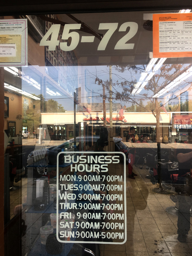 Barber Shop Hours and Address