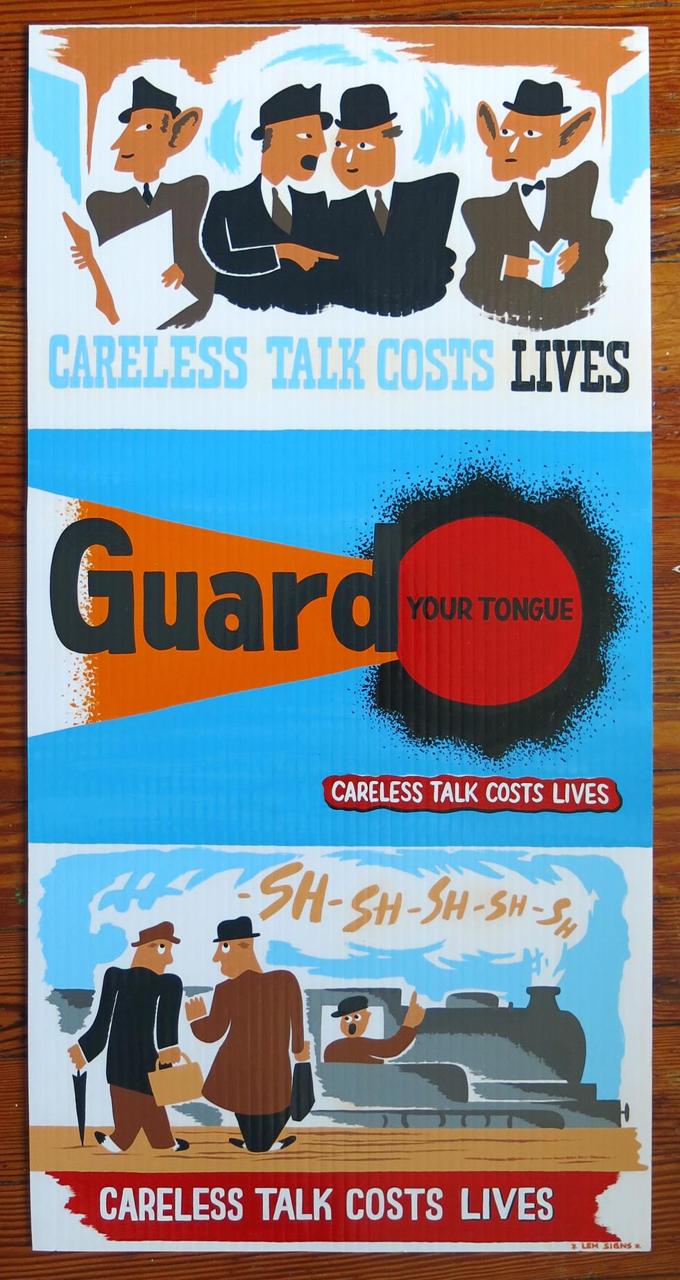 Guard Your Tongue Sign
