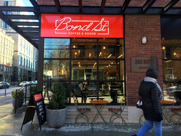 Bond St Cafe Sign, Windows, A frame