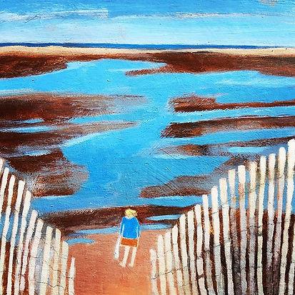 Distant Sea #contemporarypainting #conte