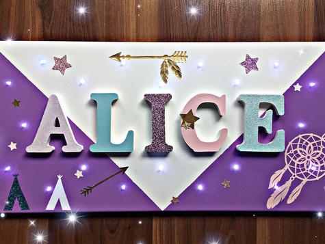 Toile Lumineuse - Alice