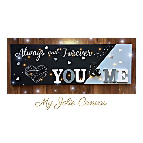 Toile Lumineuse - You & Me