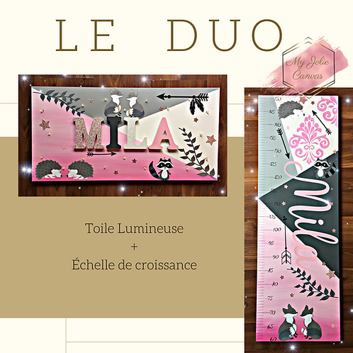 Duo - Toile Lumineuse + Echelle de Croissance