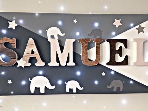 Toile Lumineuse - Samuel