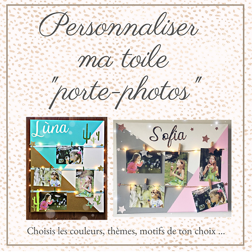 "Toile ""Porte-Photos"""