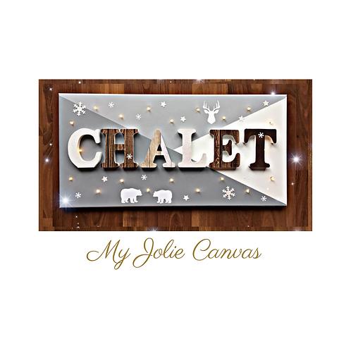 Toile Lumineuse - Chalet