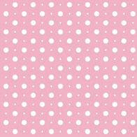 RM1 - Rose motif pois blanc
