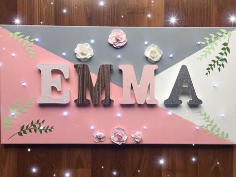 Toile Lumineuse - Emma