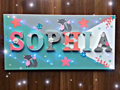 Toile Lumineuse - Sophia