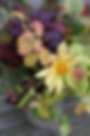 Autumn foilage vase
