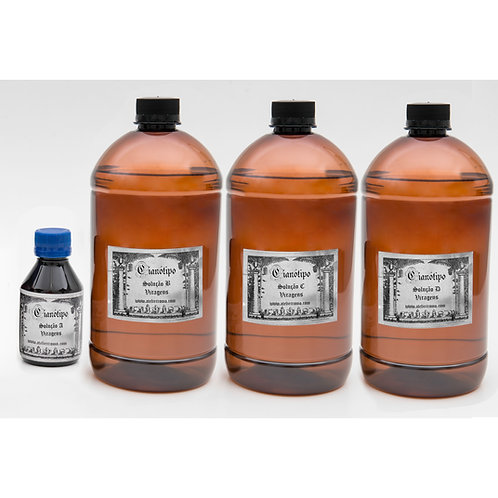 Kit de viragens para cianotipia