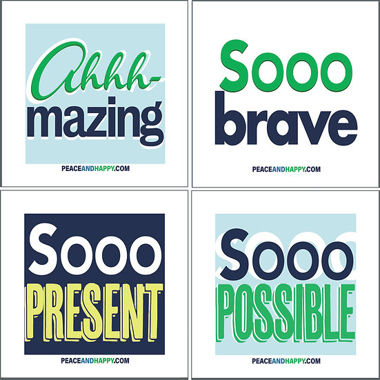 UP-WORD Stickers ~ Sooo Good Collection #1, 4-Piece Power Pack