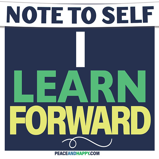 UP-WORD Sticker~I Learn Forward