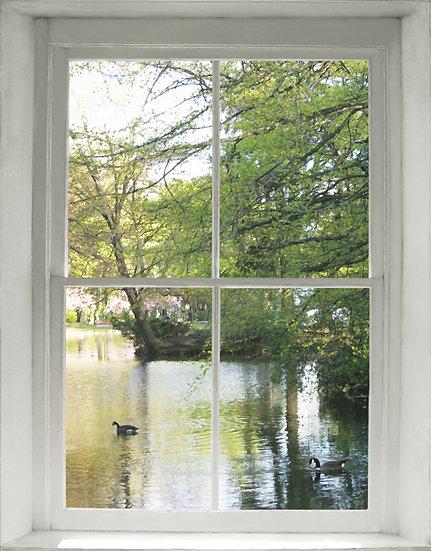 Park Place Geese Window- Portrait Orientation