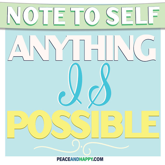 UP-WORD Sticker~Anything Is Possible