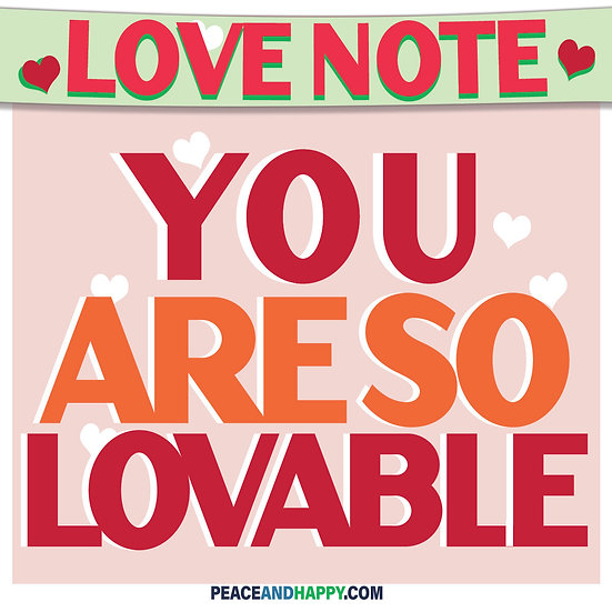 UP-WORD Sticker~You Are So Lovable