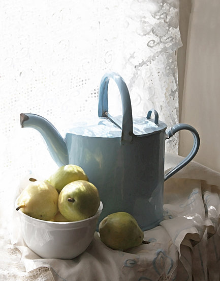 Pears and Watering Can- Portrait Orientation