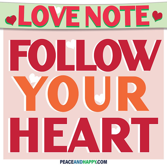 UP-WORD Sticker~Follow Your Heart