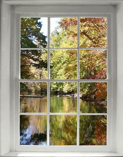 Autumn Window- Portrait Orientation